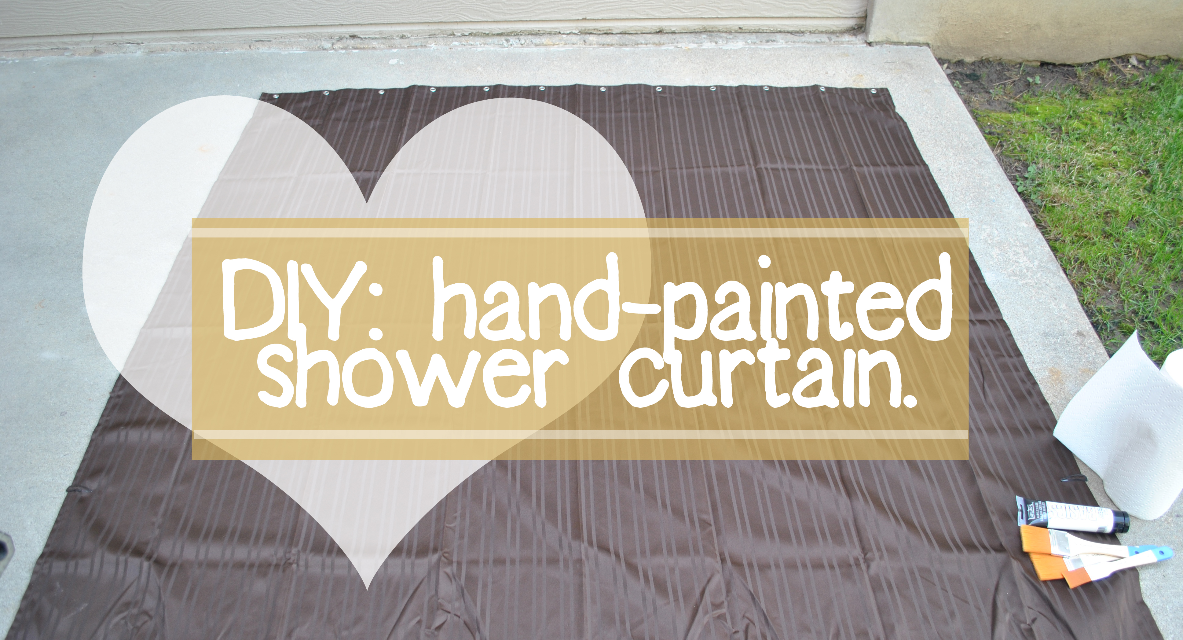 Diy painted shower curtain - Diy Painted Shower Curtain 0