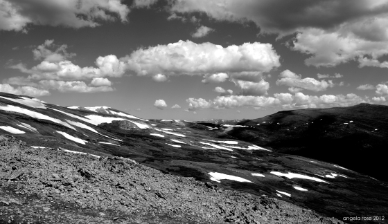 snow patches somewhere along the first half of the colorado trail.