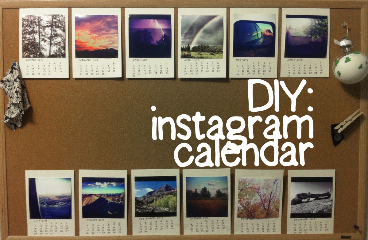 Diy Calendar On Word : Diy instagram calendar loveknobbyknees