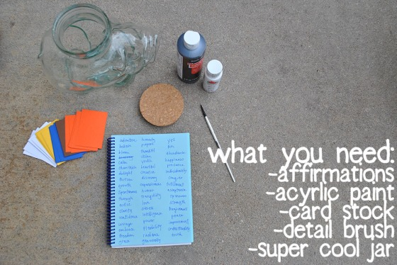 DIY Daily Affirmation Supplies
